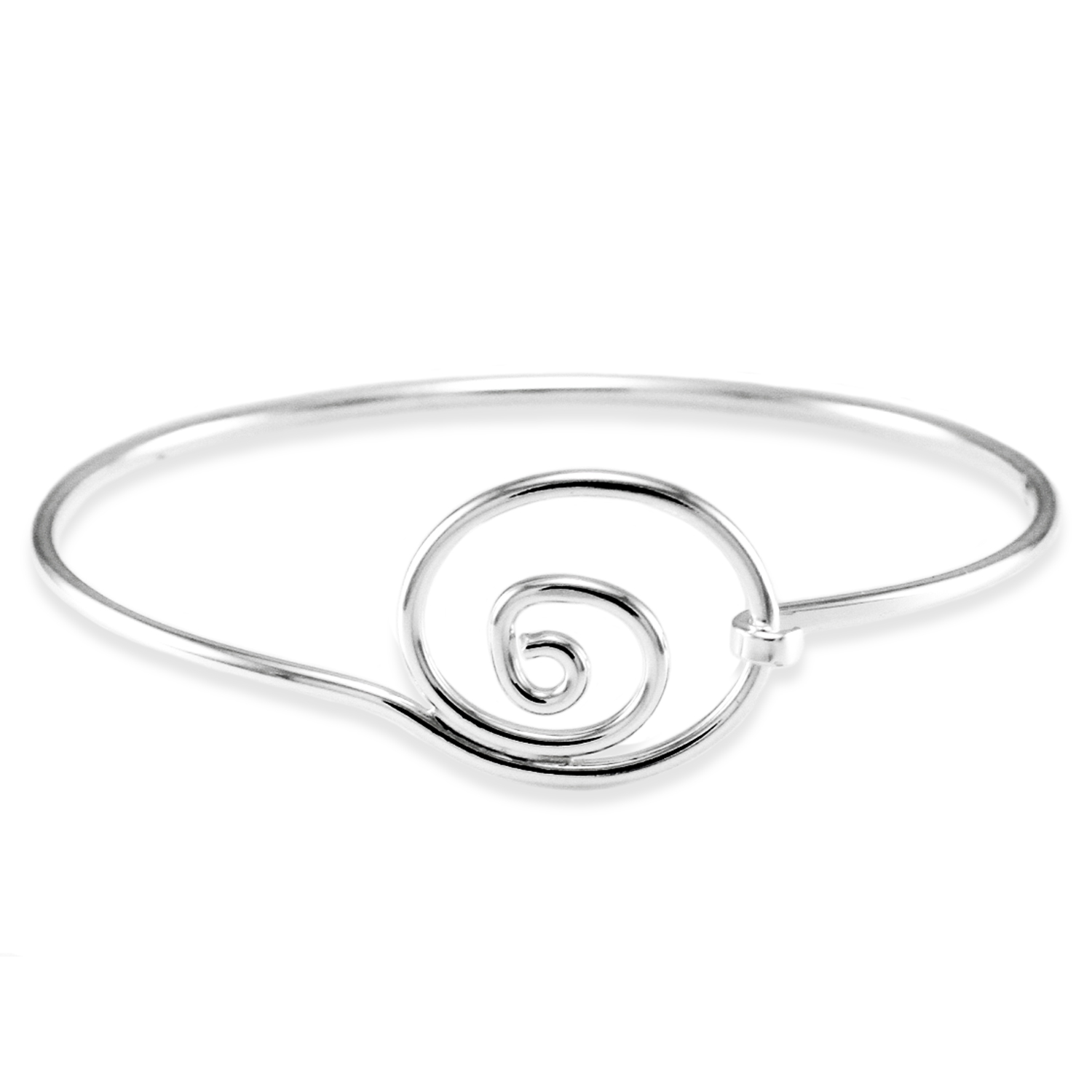 925 Sterling Silver Swirl Design BANGLE