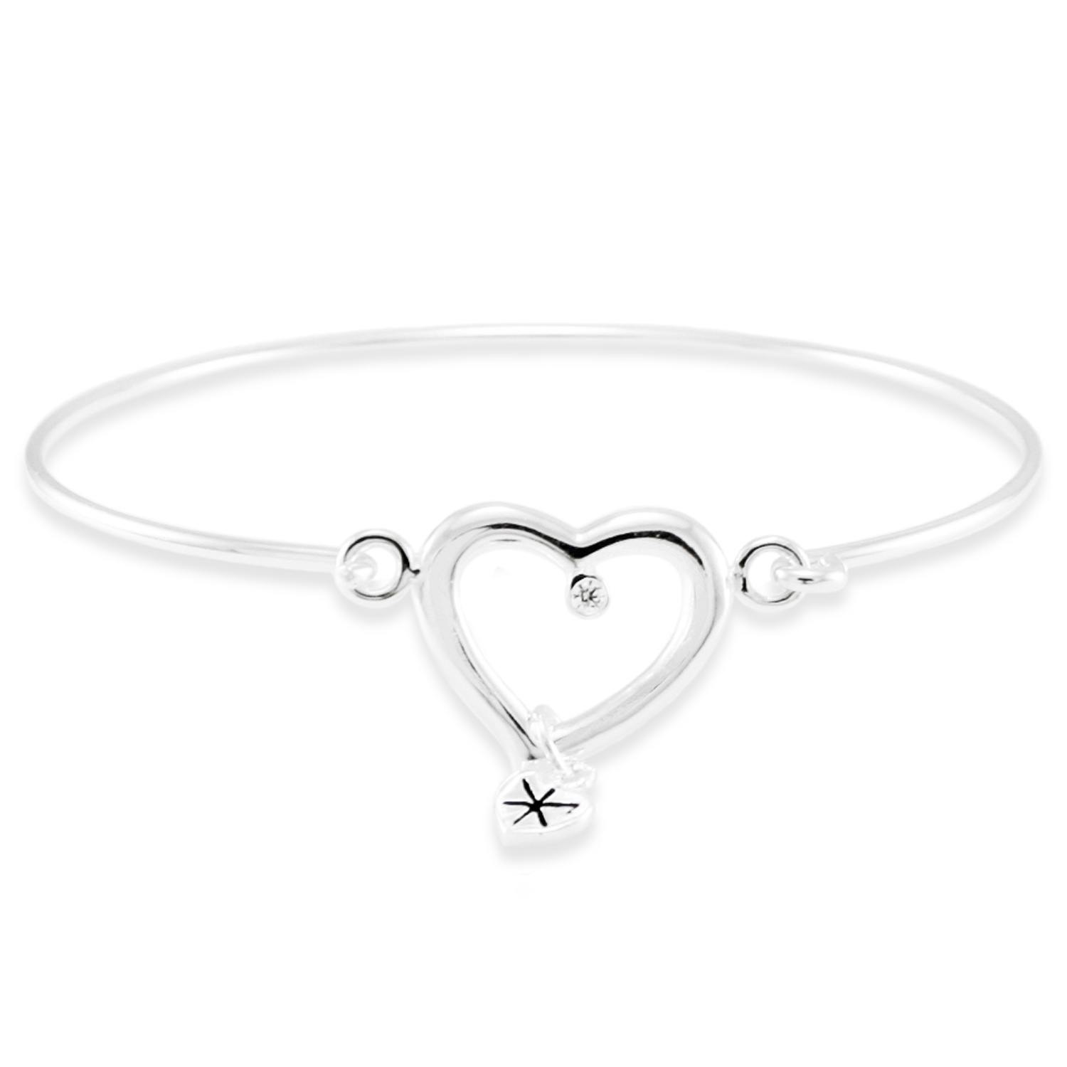 925 Sterling Silver Eternal Heart Design BANGLE