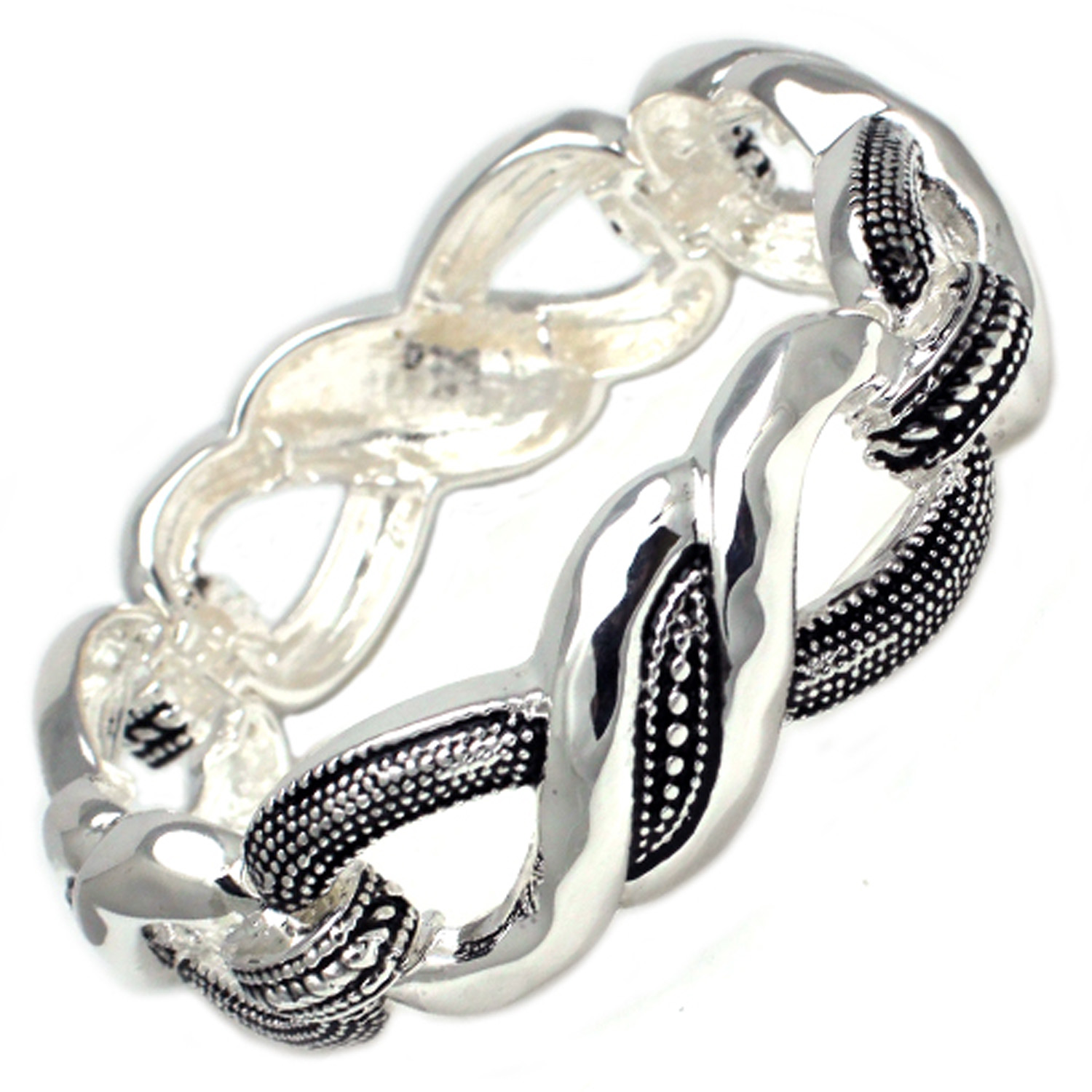 Antique Silver Plated Brass BANGLE in Twisted Design