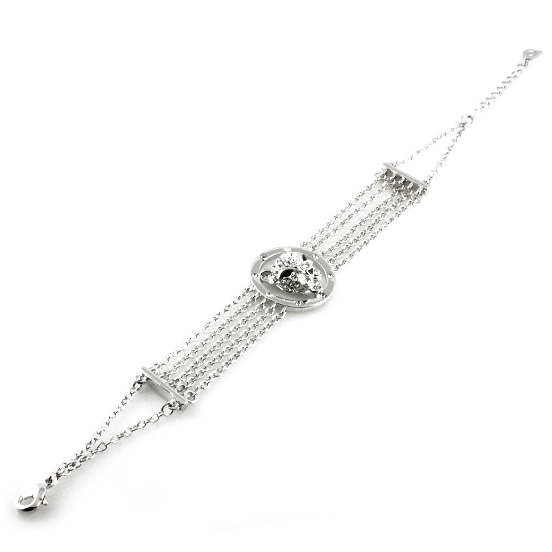 SWAROVSKI Elements Jaguar Head Charm Strand Bracelet