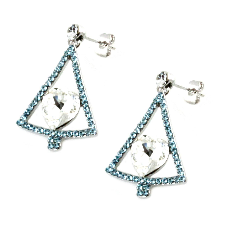 SWAROVSKI Elements Evergreen Christmas Charm Earrings