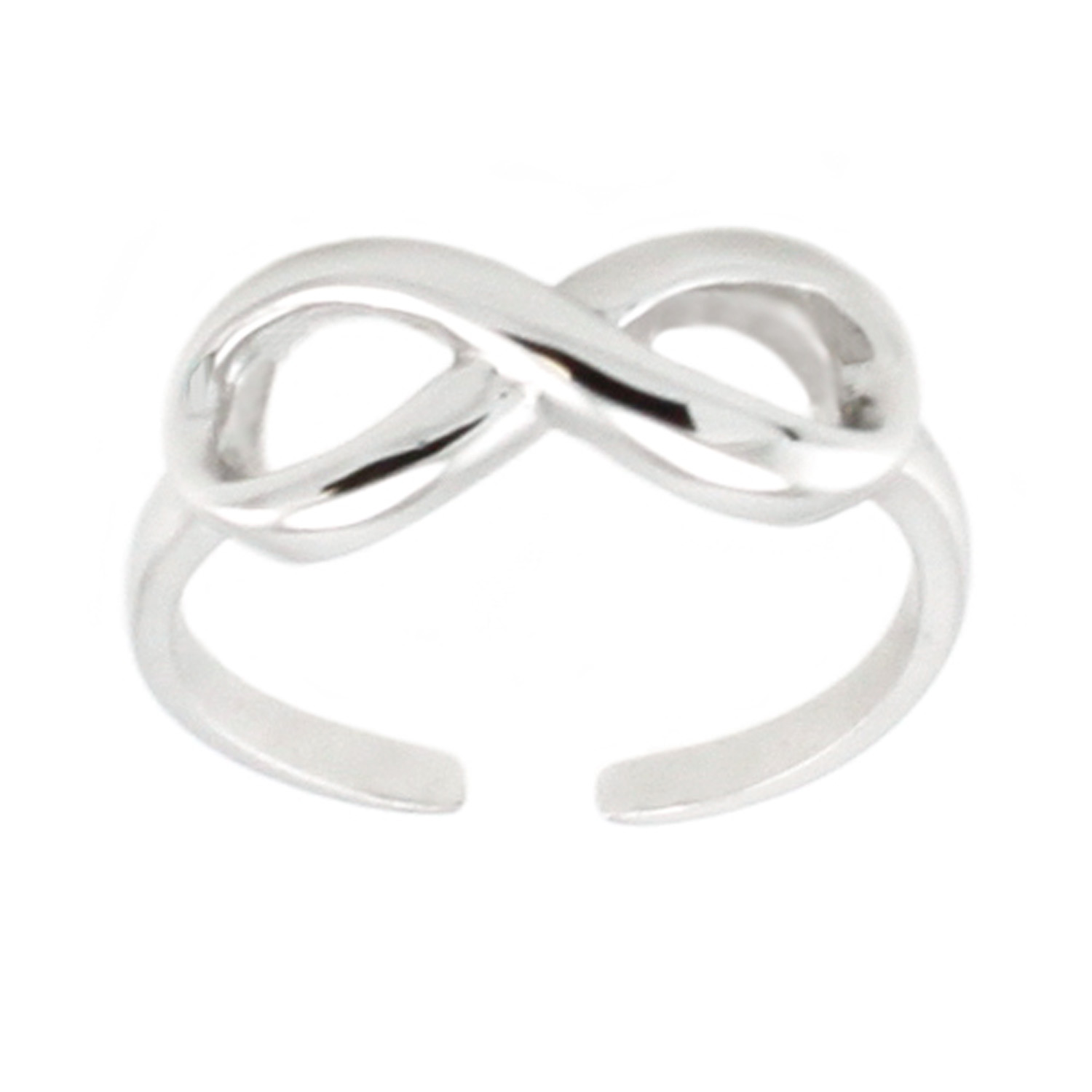 Sterling Silver Infinity Adjustable Size Knuckle/TOE RING