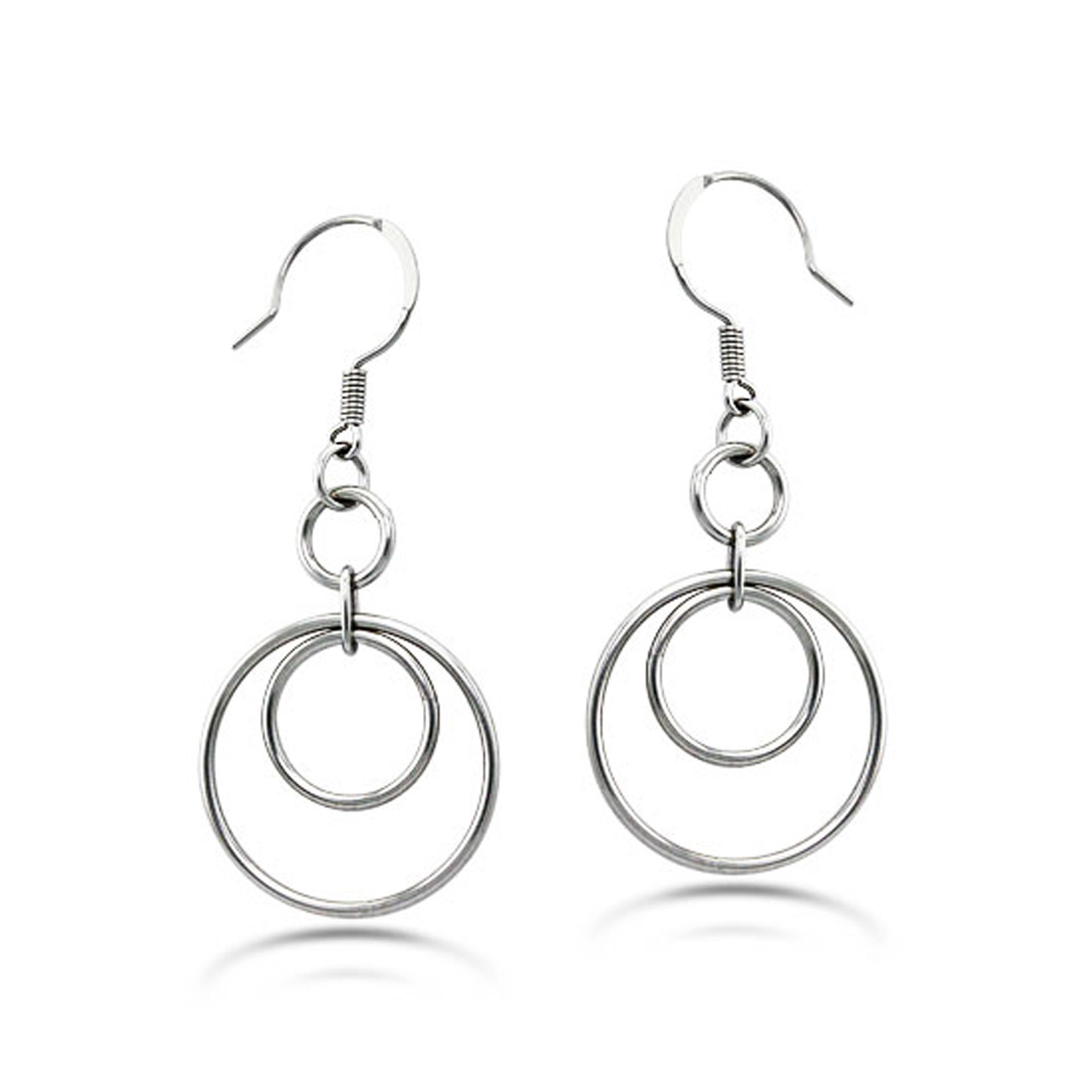 Stainless Steel Dangle HOOP EARRINGS